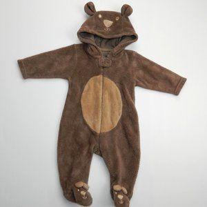 3 month Fleece Teddy Bear Sleeper / Costume